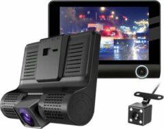Zwarte Allcam Dashcam voor auto T7 Taxi 2CH 4.0 inch - FullHD