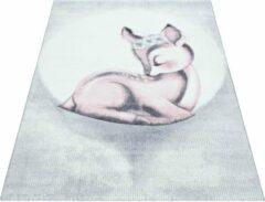 Bambi Vloerkleed - Sleepy Deer - Rechthoek - 120 x 170 cm - Vintage, Patchwork, Scandinavisch & meer stijlen vind je op WoonQ.nl