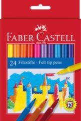 Faber-Castell Viltstiften Faber Castell 24 stuks karton etui