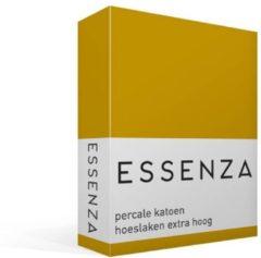 Essenza Premium - Percale katoen - Hoeslaken - Extra Hoog - Lits-jumeaux - 160x210 cm - Mustard