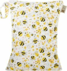 HappyBear Wetbag - Bijen   Waterdichte opbergtas - luiers - 2 vakken - 30cm x 40cm