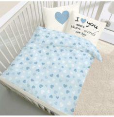 Kinderbutt Bettwäsche Renforcé Kinderbutt blau-weiß