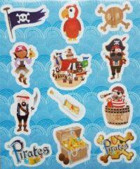 Lichtblauwe Henbrandt Ltd 12 stuks Uitdeel stickervelletjes PIRAAT PIRATEN/ traktatie cadeautjes / kinderfeestje / kinderverjaardag