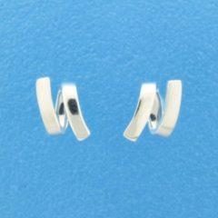 TFT Oorknoppen Poli/mat Zilver Gerhodineerd Mat Glanzend 10 mm x 5 mm