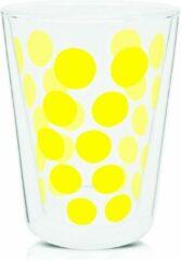 Zak!designs Theeglas Dot Dot Dubbelwandig 350 Ml Glas Geel