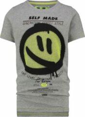 Grijze Vingino T-shirt Halmo Jongens T-shirt Maat 110