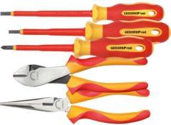 Gedore Red VDE-Werkzeugsatz, 2x Zange + PH + SL, 5-teilig, Werkzeug-Set