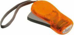Merkloos / Sans marque 10x Knijpkat zaklampen oranje 10,5 cm - Zaklampje sleutelhanger