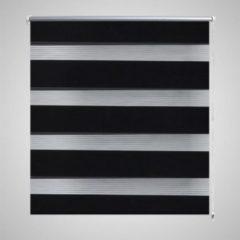 VidaXL - Rolgordijn (wonen) Duo - 120 x 230 cm - zwart 240220