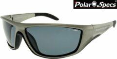 Zilveren Polar Specs® Polariserende Zonnebril Vortex Sport PS9052 – Silver – Polarized Black – Medium – Unisex