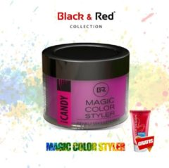 Roze Black&Red Collection Magic Color Styler Haar Wax 100ml - Pink Candy