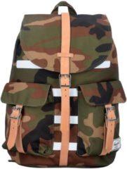 Dawson 172 Backpack Rucksack 48 cm Herschel woodland camo stripe veggie tan leather