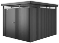 Grijze Biohort Highline H5 donkergrijs metallic 1 deurs - 275 x 315 x 222 cm