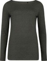 Grijze WE Fashion Dames organic cotton T-shirt