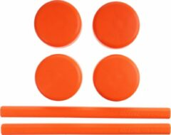 Saccon Vervangingsset Voor Etalage Standaard Oranje 6-delig