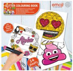 Basic Emoji Glitter Kleurboek met 24 Platen