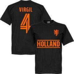 Retake Nederlands Elftal Virgil Van Dijk Team T-Shirt - Zwart - S