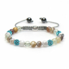 Karma Jewelry Karma Armband Spiral Baby Brown Blue Crystal