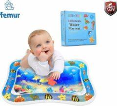 Blauwe Femur®️ Originele Baby Waterspeelmat – Speelkleed – Aquamat – Watermat Zwembad – Speelmat – Babytrainer - Babygym - Kraamcadeau – Ideaal cadeau voor babyshower – Verkoeling - Luxe geschenkdoos