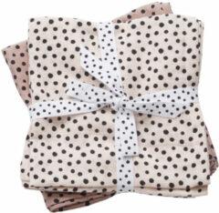 Done by Deer Happy Dots hydrofiele monddoekjes 70x70 cm (2 stuks) roze