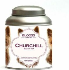 BLOOSS coffee Churchill | Lapsang souchong | zwarte thee | losse thee | 100g | in theeblik