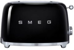Smeg TSF01BLEU 50's style broodrooster 2X2 geschikt voor twee sneetjes brood, Zwart