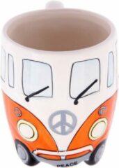 Puckator Volkswagen kampeerbus camper mok beker koffiemok kleur oranje vakantie camping