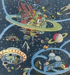 Sens Kids Rugs Ruimte kindervloerkleed - kindertapijt - 100 x 150 cm - wasbaar - zacht - duurzame kwaliteit - speelgoed