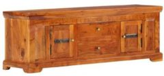 Bruine VidaXL Tv-meubel 119x30x40 cm massief acaciahout