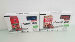 ''merkloos'' Speelgoedset huis en brandweerkazerne
