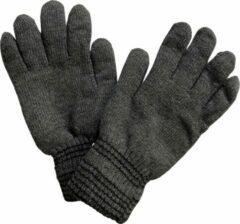 Donkergrijze Fashionhouse Warme Winter Handschoenen | Hoogwaardige Kwaliteit | One Size / Unisex | Gestreept | Donker Grijs
