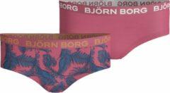 Bjorn Borg Björn Borg Palmleaf meisjes ondergoed - 2pack - multi/roze/veren/blauw - Maat 122 - 128