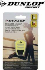 Gele DunLop Sport Duo Mode LED Clip - Hardlopen - Sporten - INCL. Batterij