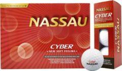 Nassau Cyber - Golfballen - 12 stuks - Wit