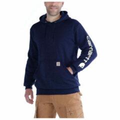Carhartt - Sleeve Logo Hooded Sweatshirt - Hoodie maat XL, grijs/zwart/grijs/zwart/zwart/purper/blauw/beige/rood/blauw/zwar