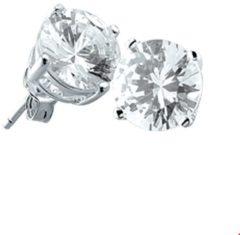 Transparante Huiscollectie TFT Oorknoppen Zirkonia Zilver Glanzend 6mm rond