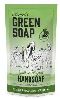 Afbeelding van Marcel's Green Soap Marcel's groen Soap Handzeep Tonka&Muguet Navul Stazak 500 ml