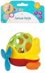 Gele BamBam Bam Bam - Mini Helicopter Cartoon Baby Peuter speelgoed rammelaar - Bijtring Bijten