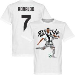Retake Ronaldo 7 Script T-Shirt - Wit - XS
