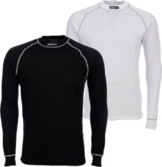 Witte Craft Be Active Multi Longsleeve - Thermoshirt - Heren - XXL - Wit;Zwart