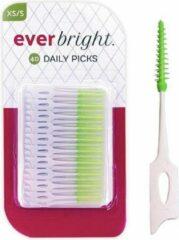 Witte Everbright DailyPicks - 40 stuks | Daily Tooth Picks voor dagelijkse reiniging | Tandenstoker rubber