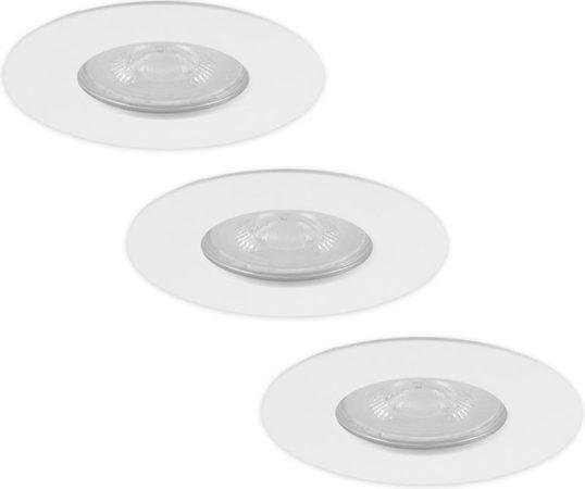 Afbeelding van HOFTRONIC Set van 3 dimbare LED inbouwspots Bari wit GU10 4,2 Watt 6000K IP65 spatwaterdicht