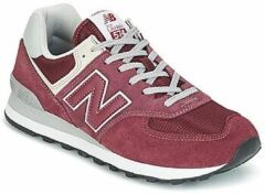 Bordeauxrode Lage Sneakers New Balance ML574