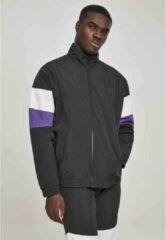 Urban Classics Trainings jacket -M- 3-Tone Crinkle Zwart