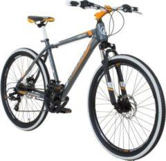 26 Zoll Galano Toxic Mountainbike Hardtail MTB Jugendmountainbike Jugendfahrrad Grau / Orange