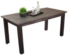 Möbel direkt online Moebel direkt online Massivholztisch 160x80 cm Esstisch aus massiven Akazienholz im trendigen used-look braun