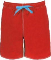 Rode Arena Fundamentals Solid Zwemboxers Heren, red-turquoise Maat XL