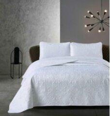 Dreamhouse Bedsprei - Clara - Gewatteerd - Luxe uitstraling - Incl. Kussenslopen - Wit