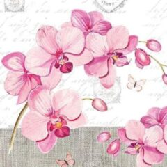 Roze Ambiente Orchids With Love papieren servetten