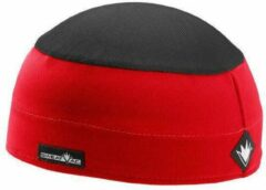 Sweatvac ventilator cap rood / zwart